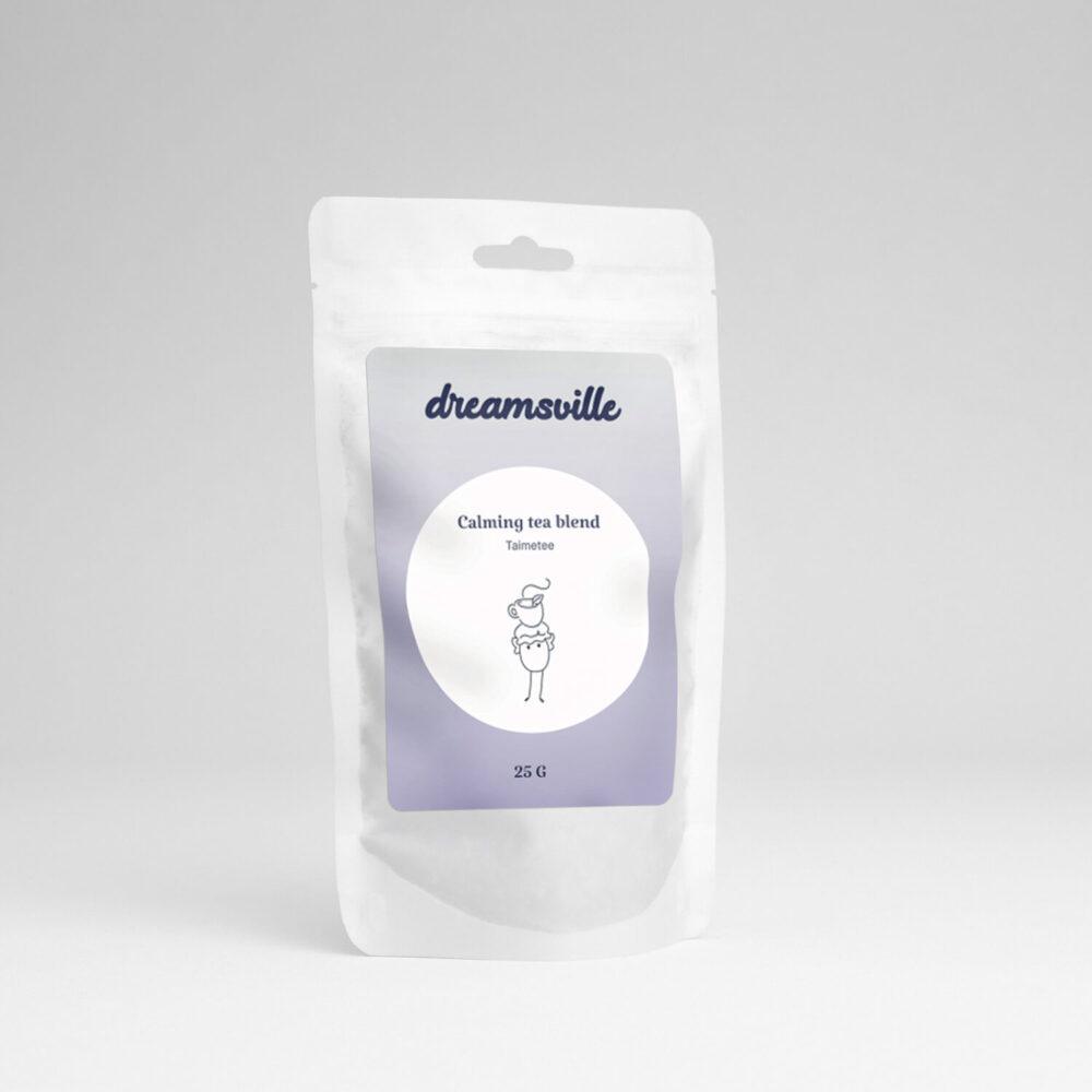 Dreamsville calming tea packaging
