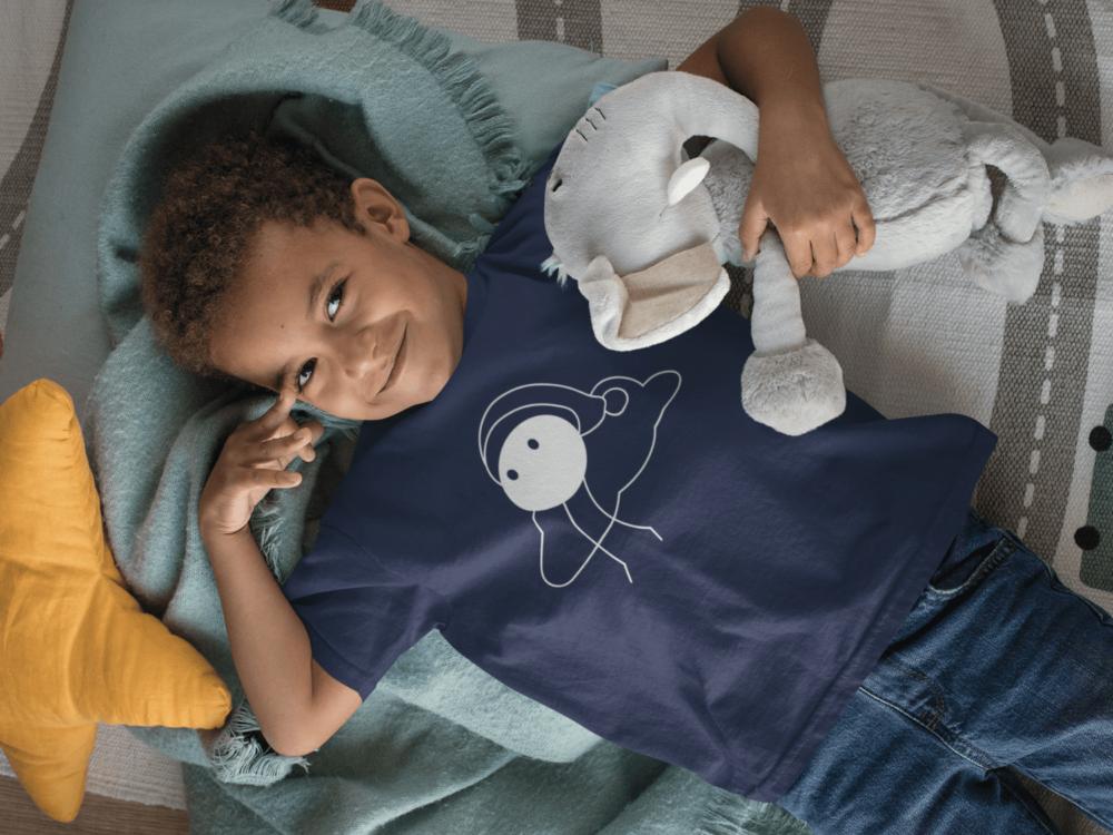 Boy wearing the Dreamsville organic cotton t-shirt