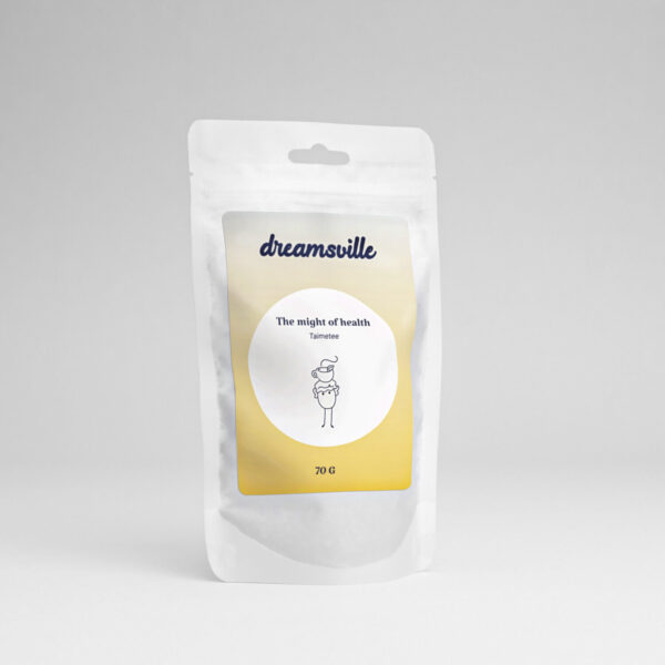 Dreamsville tea with peppermint and blackcurrant