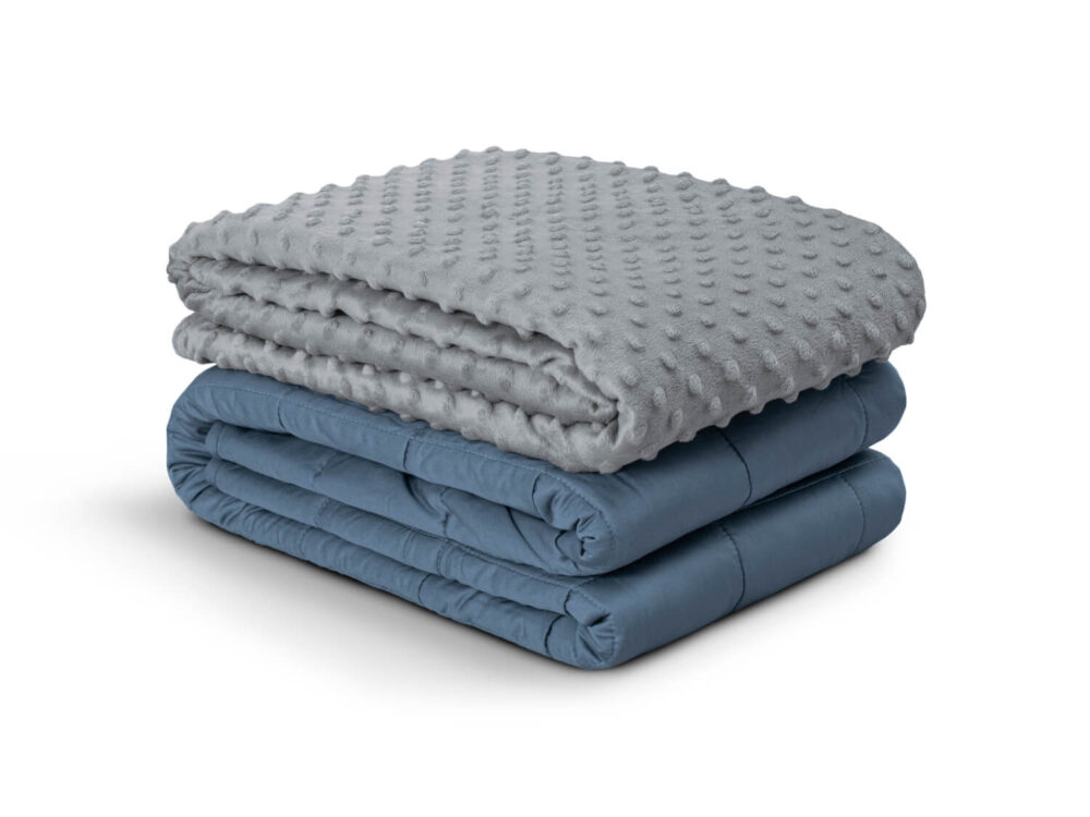 Dreamsville Polygiene weighted blanket with minky cover